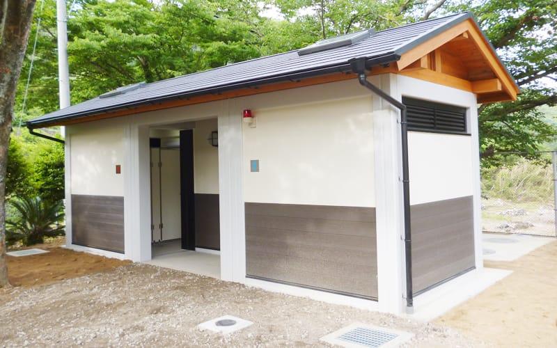 国指定史跡池辺寺跡屋外トイレ他1棟新築工事